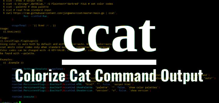 ccat让cat命令有颜色的输出
